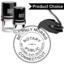Connecticut Round Notary Seal