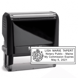 Maine Notary Rectangle Seal