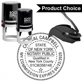 New York County and Expiration Round Notary Seal
