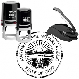 Ohio Round Notary Seal