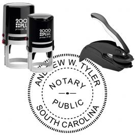 South Carolina Round Notary Seal
