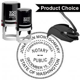 Washington State Round Notary Seal