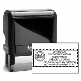 West Virginia Rectangle Notary Seal