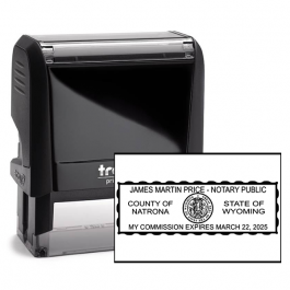 Wyoming Rectangle Notary Seal