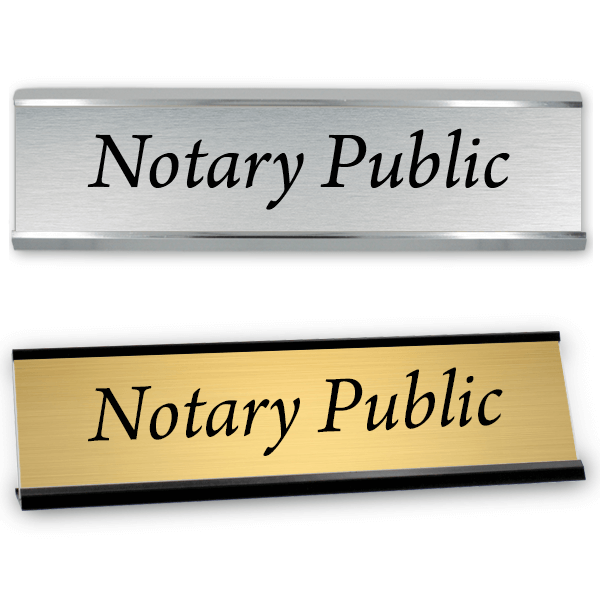 """Notary Public Sign with Frame   2"""" x 8"""""""