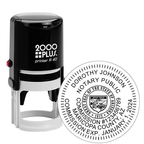Arizona Notary Round Stamp