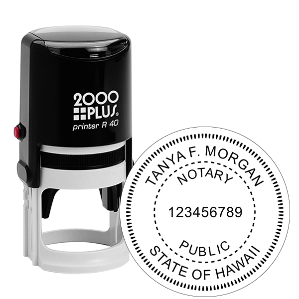 Hawaii Notary Public Round Stamp