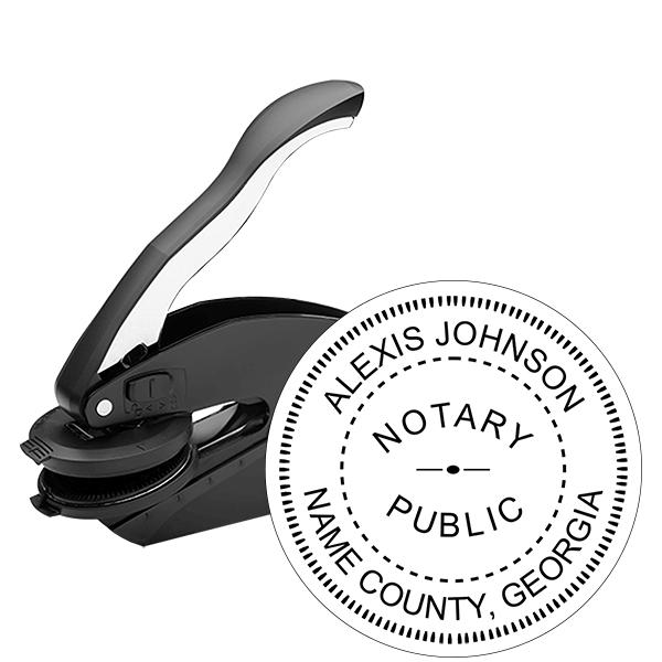 Georgia Notary Public Round Seal Embosser
