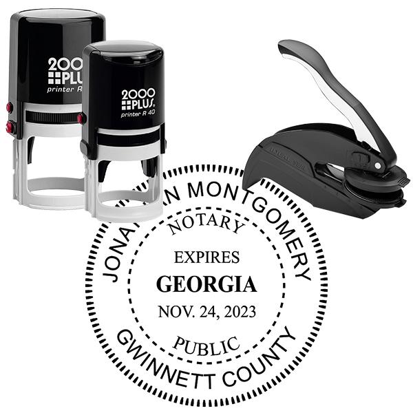 Georgia Notary Round with Expiration