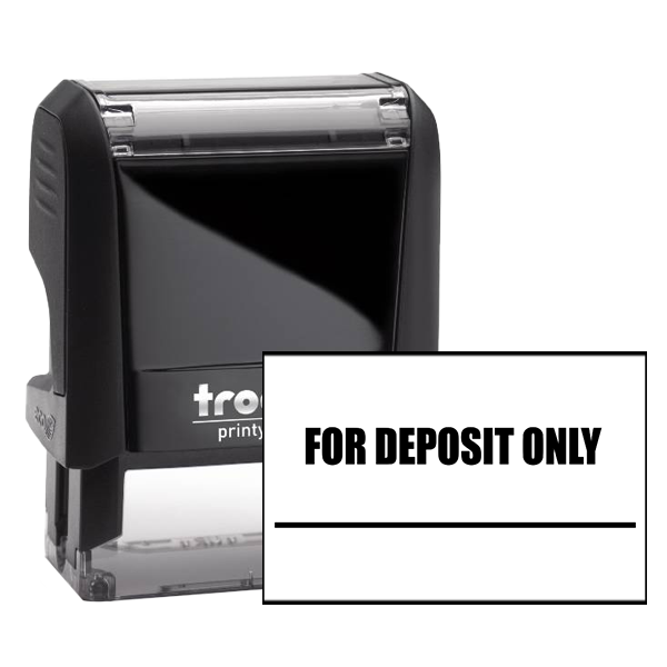 FOR DEPOSIT ONLY With Underline