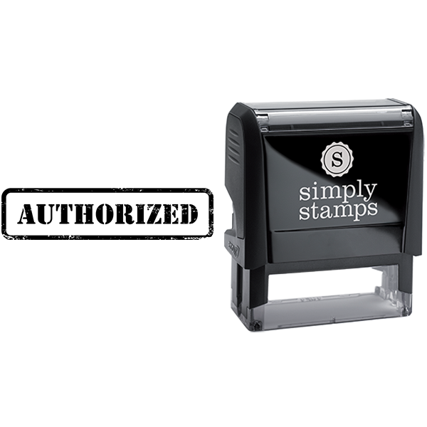 Authorized in Army Stamp Lettering Business Stamp