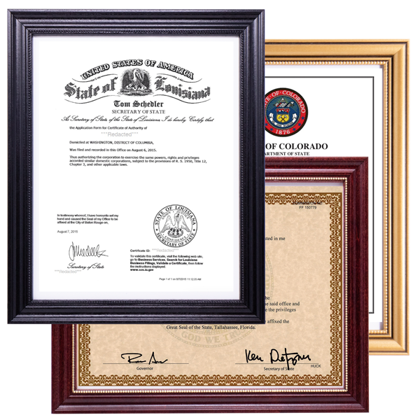 Deluxe Notary Commission Certificate Frame