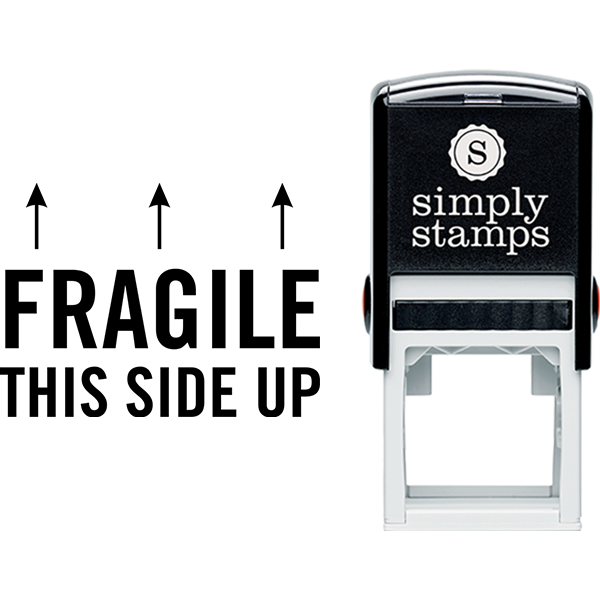 Fragile This Side Up Business Stamp