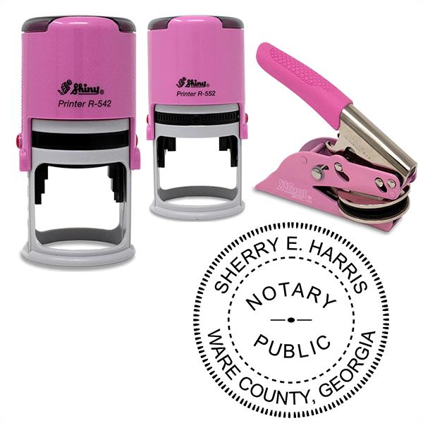 Georgia Notary Pink - Round Design