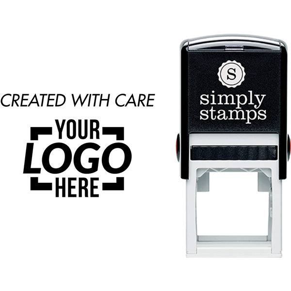 Created with Care Custom Logo Business Stamp
