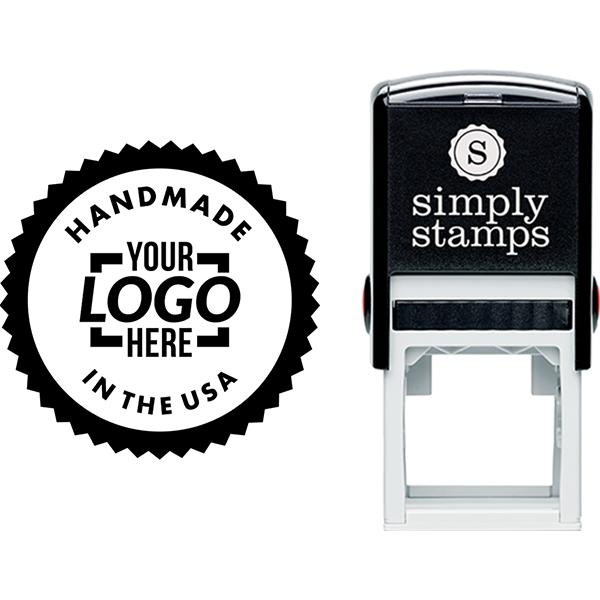 Handmade in the USA Custom Logo Business Stamp
