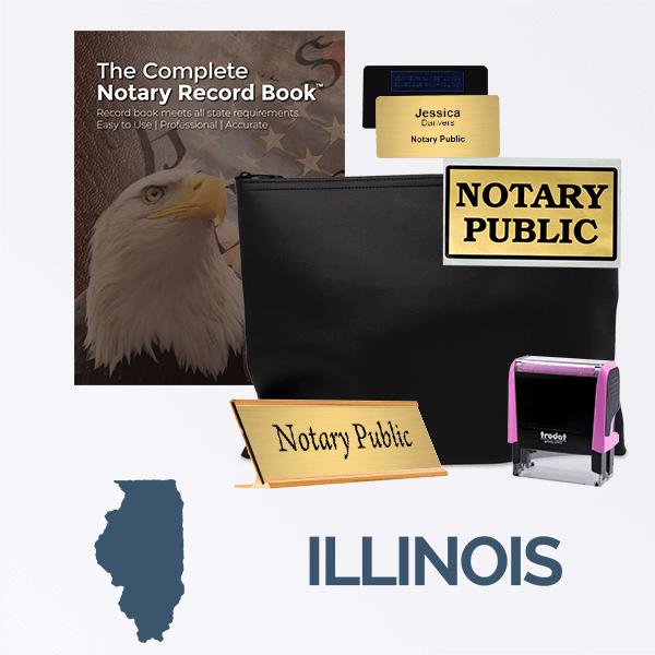 Illinois Pink Deluxe Notary Kit