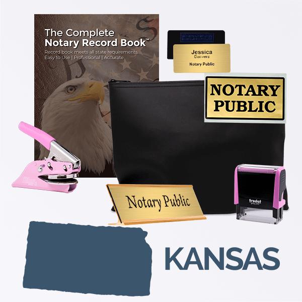 Kansas Pink Deluxe Notary Kit