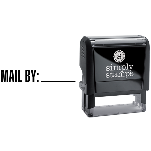 Mail By with Custom Line Business Stamp