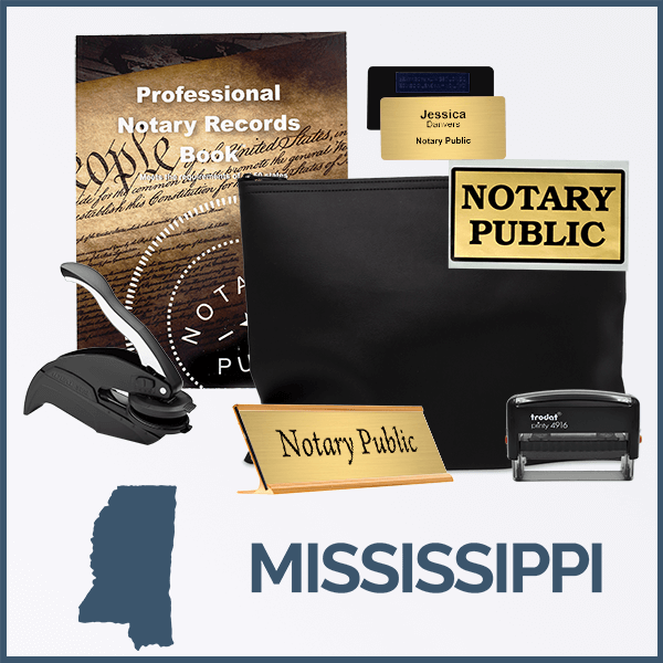 Mississippi Deluxe Notary Kit