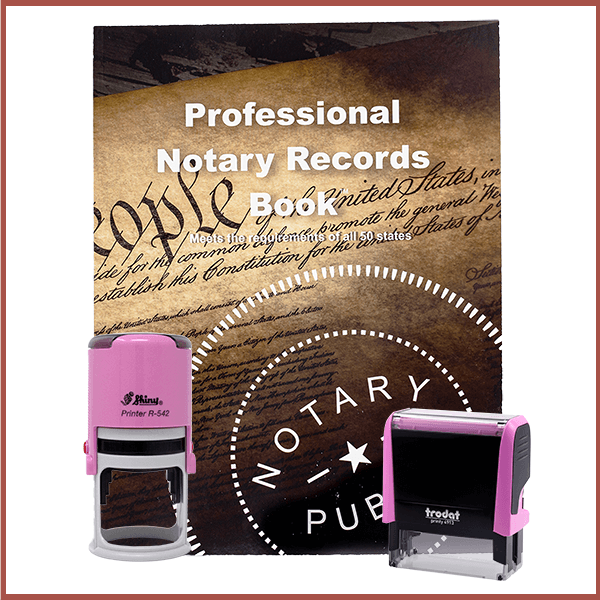 Nebraska Pink Value Notary Kit
