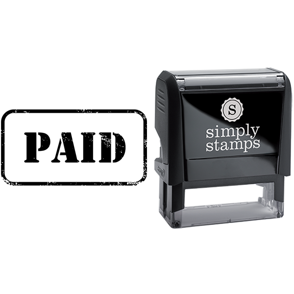Paid in Army Stamp Lettering Business Stamp