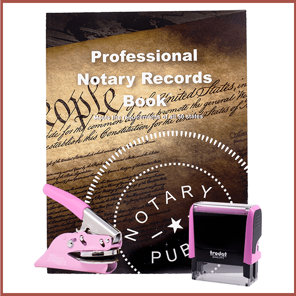 Texas Pink Value Notary Kit