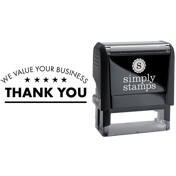 We Value Your Business Thank You Business Stamp