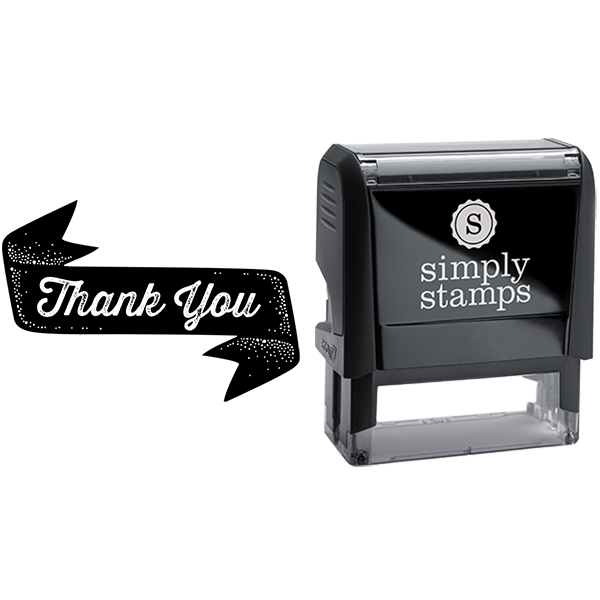 Scripted Thank You in Banner Business Stamp