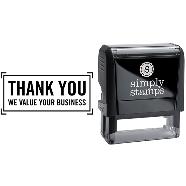 Thank You We Value Your Business Stamp