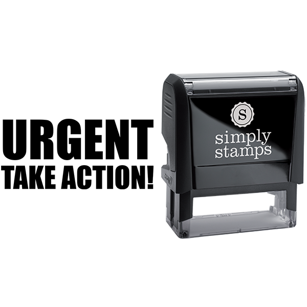 Bold Urgent Take Action Business Stamp