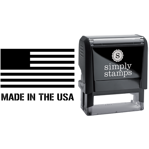 Made in the USA with Flag Business Stamp