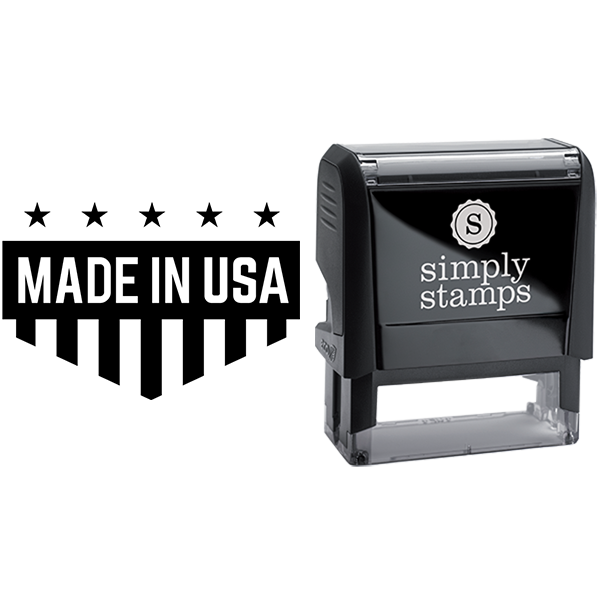 Made in USA Shield Shape Business Stamp