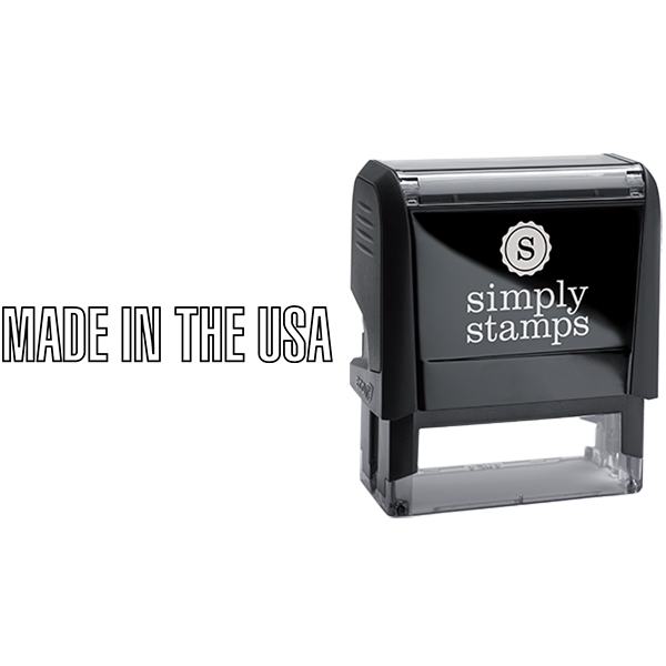 Outlined Made in the USA Business Stamp
