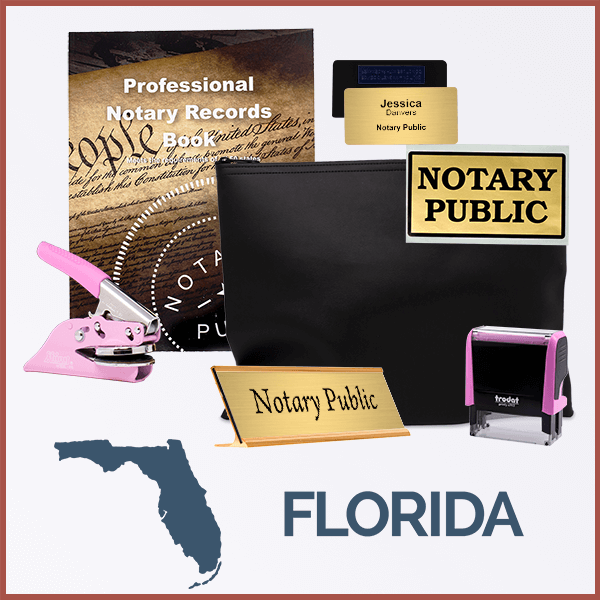 Florida Pink Deluxe Notary Kit