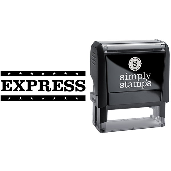Express with Stars Business Stamp