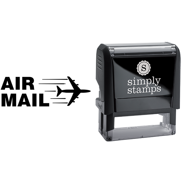 Air Mail with Airplane Business Stamp