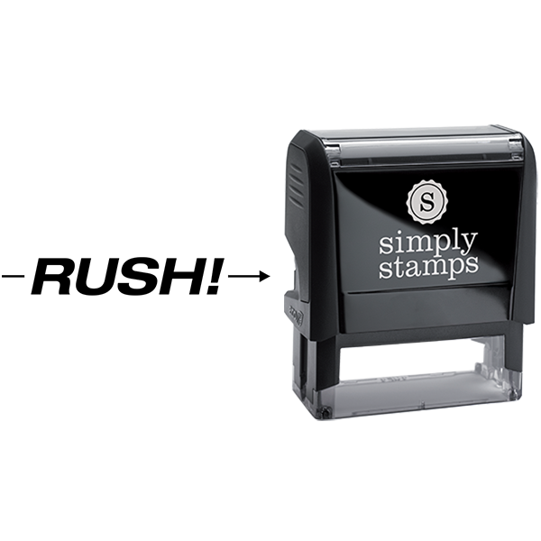 Rush with Arrow Business Stamp