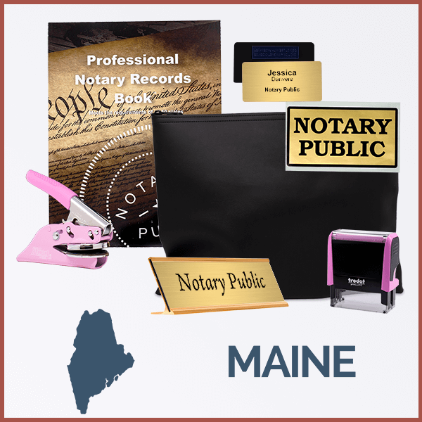 Maine Pink Deluxe Notary Kit