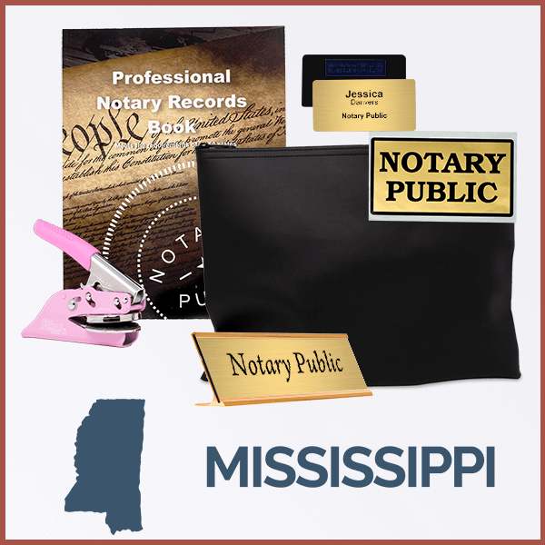 Mississippi Pink Deluxe Notary Kit