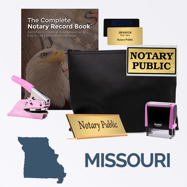 Missouri Pink Deluxe Notary Kit