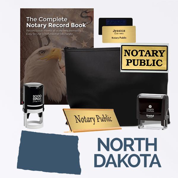 North Dakota Deluxe Notary Kit