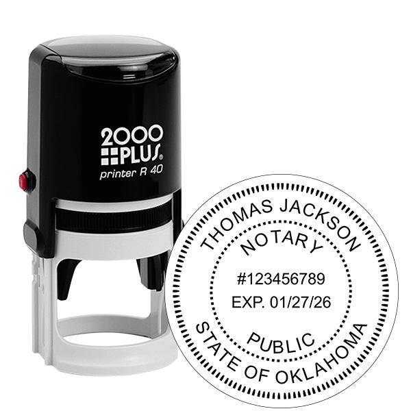 Oklahoma Notary Round Stamp
