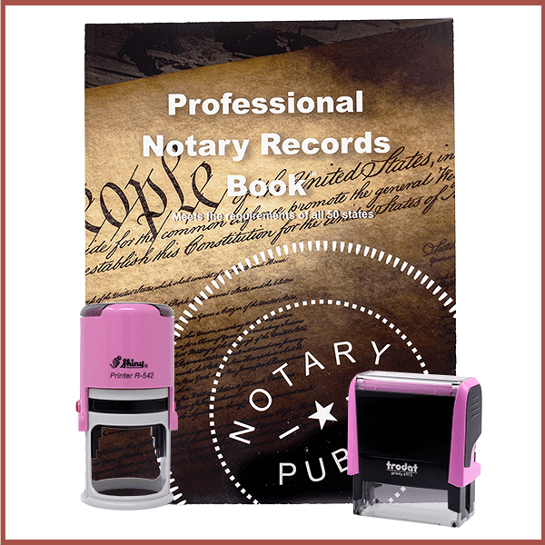 Rhode Island Pink Value Notary Kit