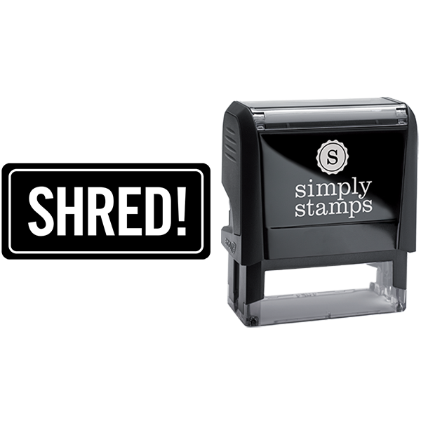 Rounded Rectangle Shred Business Stamp