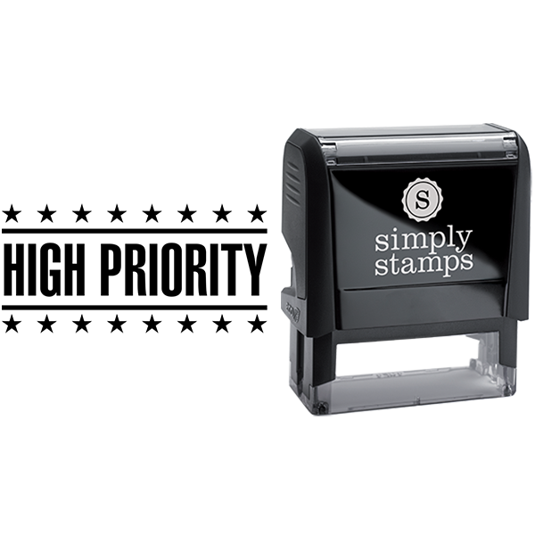 High Priority with Stars Business Stamp