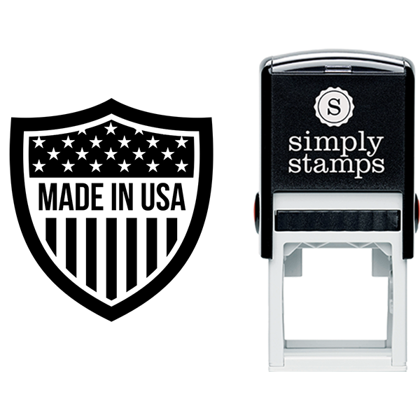 Made in USA Shield Business Stamp
