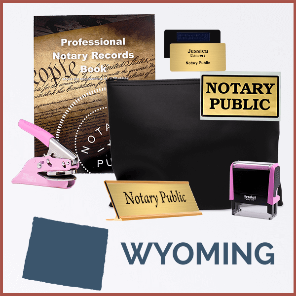 Wyoming Pink Deluxe Notary Kit