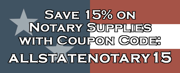Save 15% with Code allstatenotary15